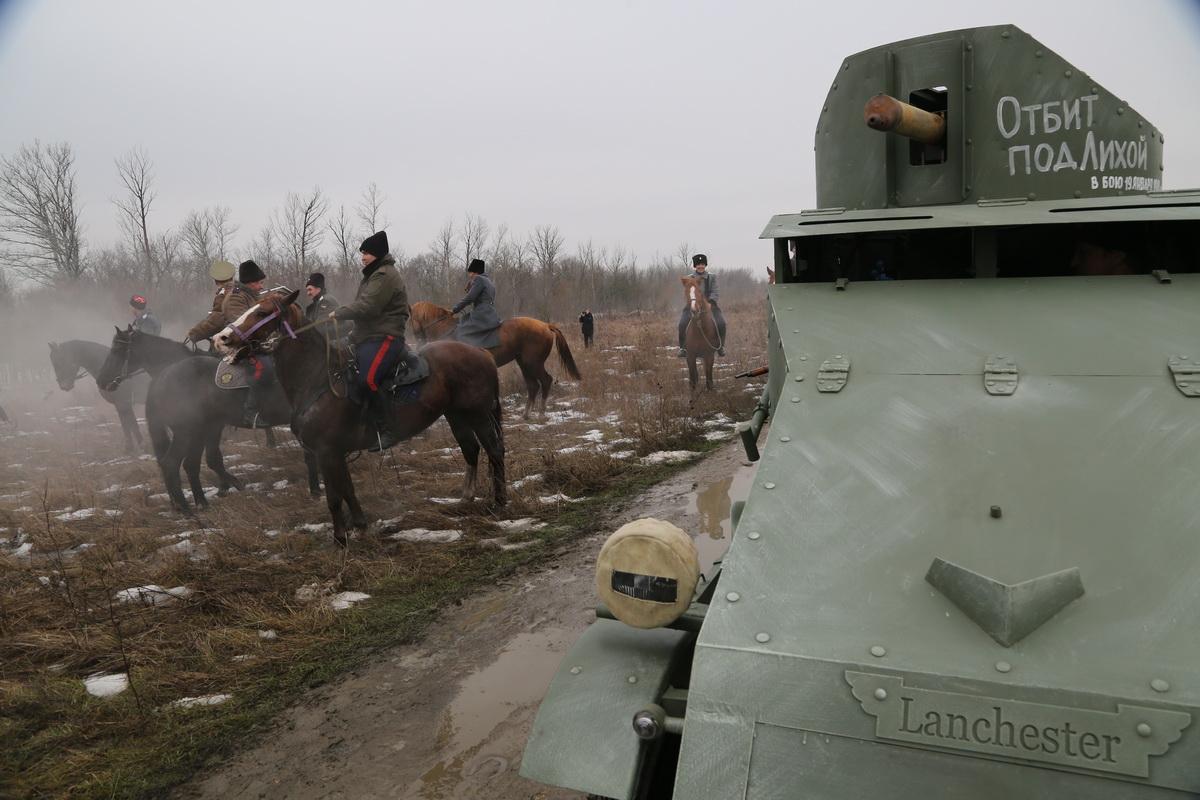 Реконструкция Бой отряда Черницова День третий- 0363