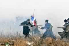 Реконструкция боя Василия Чернецова в Гражданскую войну_3.02.2018 года.