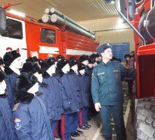 13 февраля 2021 года 6-е классы Шахтинского генерала Я.П.Бакланова казачьего кадетского корпуса в рамках профориентационной работы познакомились с работой пожарной части № 31 ОФПС 13 г. Шахты